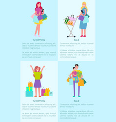 shopping and sale pictures vector image