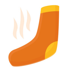 Smelling sock icon cartoon style vector