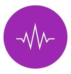 Sound wave line icon vector image