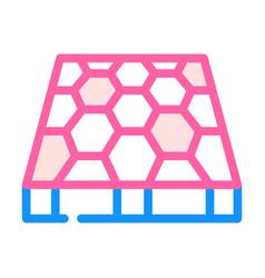 Sport ground floor layer color icon vector