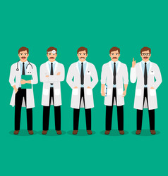 standing male doctor poses vector image