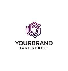 technology logo design concept template vector image