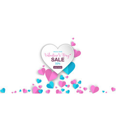 valentines day banner sale special offers vector image