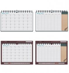 Vector calendar template vector