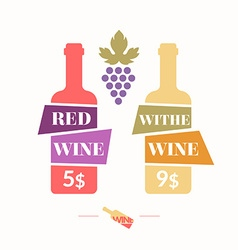 wine sticker vector image