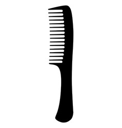 Black hair comb vector image