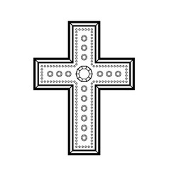 christian decorative cross vector image