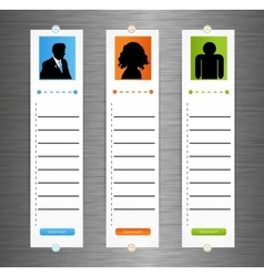 Contact banner set vector image vector image