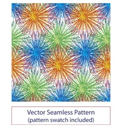 Fireworks seamless pattern vector image