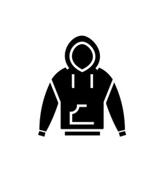 hoodie icon black sign on vector image