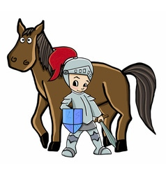 horse and knight vector image
