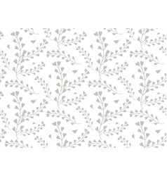 seamless pattern of windflower pickpurse vector image vector image