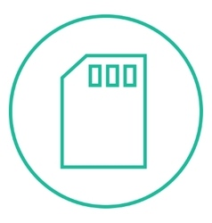 Sim card line icon vector image vector image