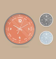 wall clocks face set dial plate vector image