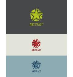 Grunge Star Design Element vector image