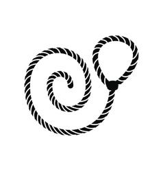 Lasso black simple icon vector image vector image