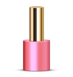 pink nail polish vector image vector image