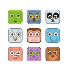 Animal icons vector image