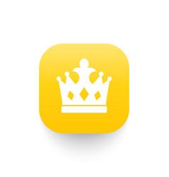 Crown icon royal symbol vector