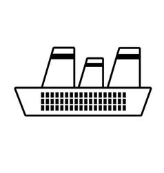 cruise ship travel maritime line vector image