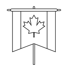 flag pennant canadian outline vector image