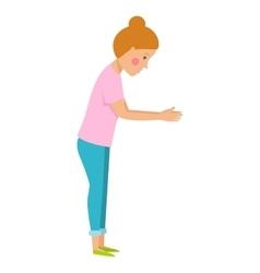 Girl isolated vector image