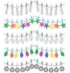 Nautical holiday bunting vol II vector image vector image