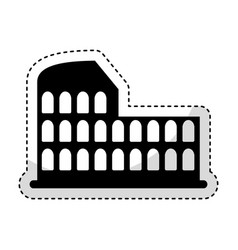 Roman coliseum ruins isolated icon vector