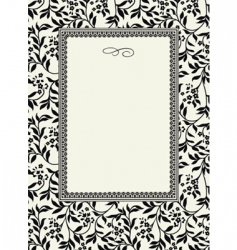 seamless ivy pattern and frame vector image vector image