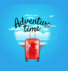 vacation travelling composition adventure time vector image vector image