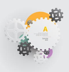 Background of gears vector image