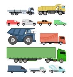Different cars transport set vector image