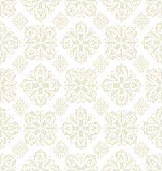 Floral wallpaper beige tile vector
