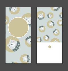 merry christmas greeting card set vector image