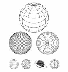 Outline globe vector