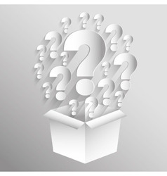 Question mark and solutions vector image