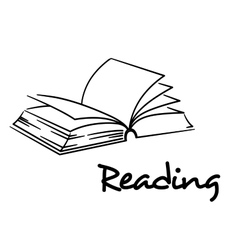 Reading icon with an open book vector image