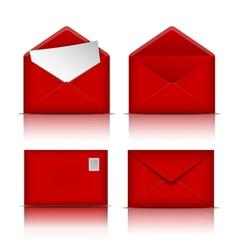 Set of Red envelopes vector image
