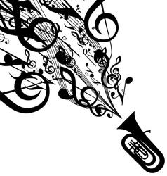 Tuba vector image vector image