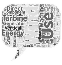 Wind Turbines text background wordcloud concept vector image vector image