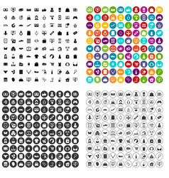100 online shopping icons set variant vector