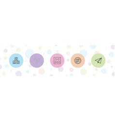 5 alphabet icons vector