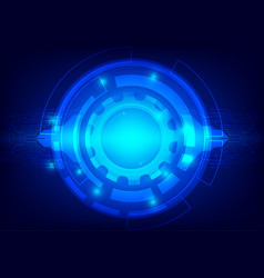 abstract blue color background digital technology vector image
