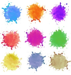 Abstract hand drawn watercolor blots background vector image