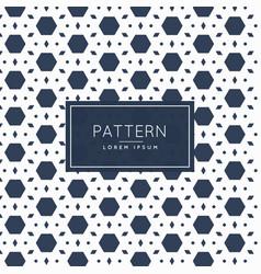 Abstract hexagonal and diamond shape pattern vector