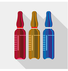 ampoule medical icon flat style vector image