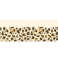 Animal brush stroke horizontal seamless pattern vector