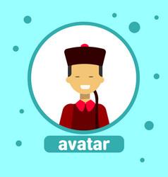 Asian woman avatar icon mongol female vector