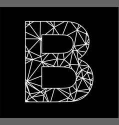 b geometric triangle block chain font vector image