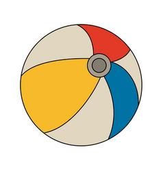 beach ball toy vector image